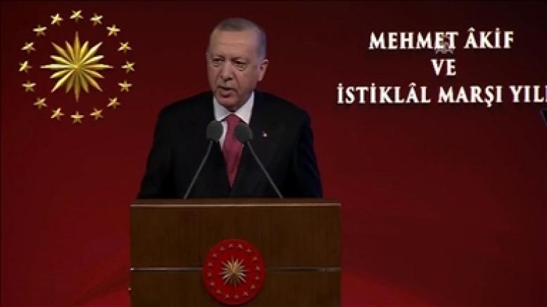 Cumhurbaşkanı Erdoğan: Bu vatanın ekmeğini yiyen hiç kimsenin İstiklal Marşı ile sorunu olamaz