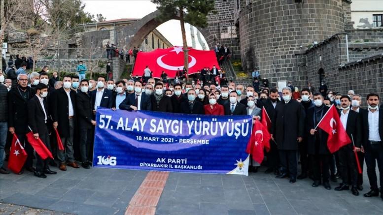 Diyarbakır'da 57. Alaya Saygı Yürüyüşü yapıldı